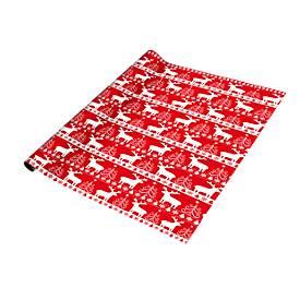 Geschenkpapier Christmas Red & White, rote Grundfarbe, 700 x 2000 mm, 5 Rollen