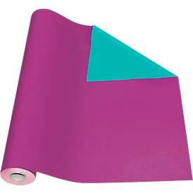 Geschenkpapier lila/grün, Rolle L 50 m x B 500 mm, beidseitig verwendbar