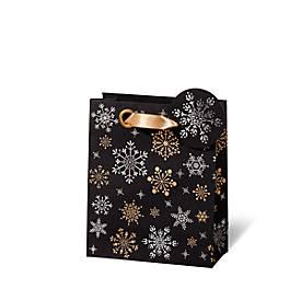 Geschenktasche, 230 x 190 x 90 mm, aus Kraftpapier, veredelt, 6 Stück