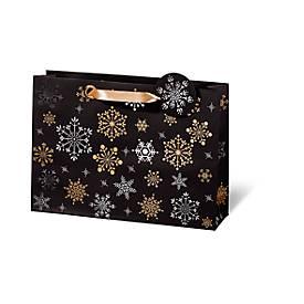 Geschenktasche Snowflakes, aus Kraftpapier, ver...
