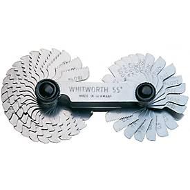 Gewindeschablone kombiniert Metrisch-ISO und Whitworth 52 Blatt