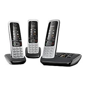 Gigaset C430A Trio - Schnurlostelefon - Anrufbeantworter mit Rufnummernanzeige + 2 zusätzliche Handsets