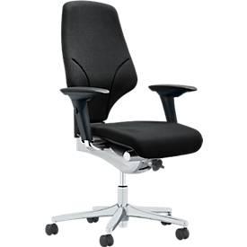 Giroflex Bürostuhl 64, Synchronmechanik, mit Armlehnen, mit Lordosenstütze, Zweizonen-Sitzprofil