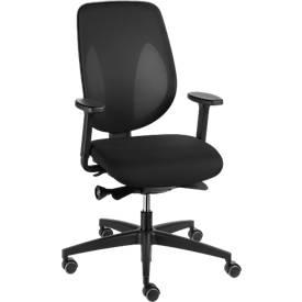 Giroflex Bürostuhl Modell 353, ohne Armlehnen, 3D-Netzgewirk