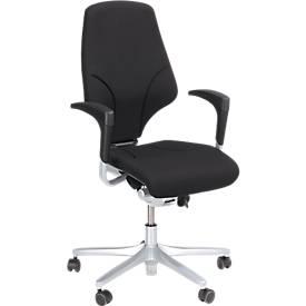 Giroflex Bürostuhl Modell 64, ohne Armlehnen, verschleißfreie Synchronmechanik, bis 150 kg