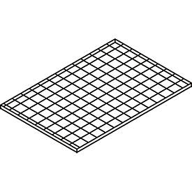 Gitterrost-Fachebene, für Gefahrstoffdepot Safe Master, Maße 1200 x 800 mm