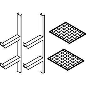 Gitterrostregal, für Gefahrstoffdepot Safe Master, halbe Breite, Böden 600 x 500 mm
