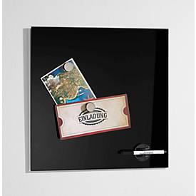 Glasbord Standaard, magnetisch, veiligheidsglas, 400 x 400 mm, zwart