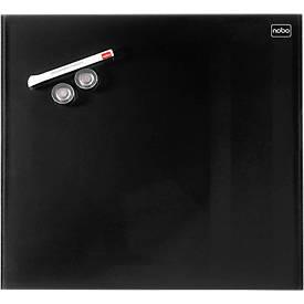 Glastafel Nobo Diamond, magnetisch, aneinander montierbar, schwarz, 300 x 300