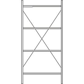 Grundregal, 4 Böden, lackiert