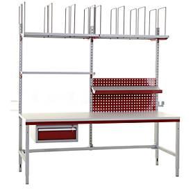 Hüdig+Rocholz Komplettpacktisch Komfort System Flex, 2000mm, umfangreiches Zubehör
