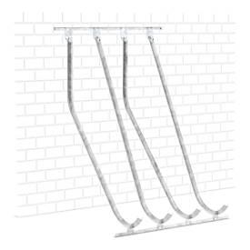Haakse hoge parkeerder WSM, enkelzijdig, voor banden tot B 60 mm, B 1400 x D 1470 x H 2010 mm, gegalvaniseerd staal, 4 ophangpunten