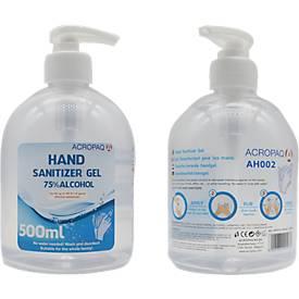Händedesinfektionsgel Acropaq Hand Sanitizer Gel, bakterizid & begrenzt viruzid, 500 ml, in Pumspender