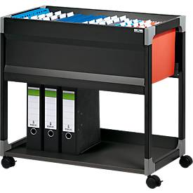 Hängemappenwagen System File Trolley 80 A4, schwarz