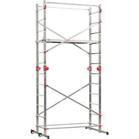 Hailo Aluminium-Gerüst 1-2-3 500, leichter Aufbau, Höhe max. 4,40 Meter