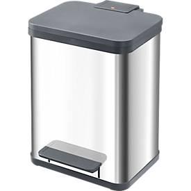 Hailo Tretabfallsammler ProfiLine Solid Öko, 19 Liter, B 310 x T 250 x H 440 mm, Edelstahl