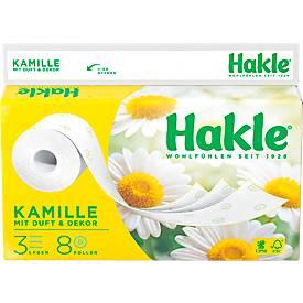 Hakle® plus Papier toilette Camomille, 3 épaisseurs, 72 rouleaux