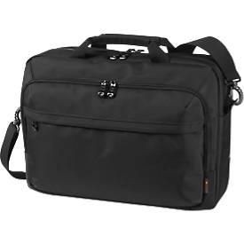 HALFAR Schoudertas Business Mission, met handvat, met laptoptas, nylon, zwart