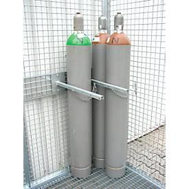Haltevorrichtung für 3 Gasflaschen, Tragfähigkeit 150 kg
