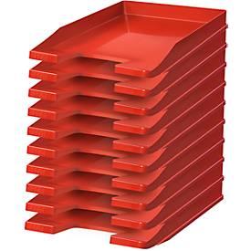 Image of HAN Ablagekorb, DIN C4, Kunststoff, 10 Stück, rot