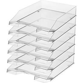 HAN Ablagekorb, DIN C4, Kunststoff, 6 Stück, glasklar