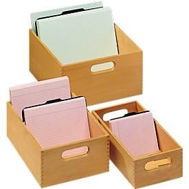HAN Boîte en bois pour fiches sans couvercle
