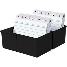 HAN Karteikasten, Kunststoff, DIN A7 quer, schwarz