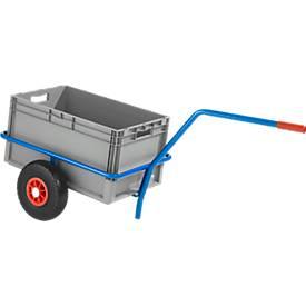 Handkarre Handwagen aus Stahlrohr, kunststoffbeschichtet, kratzfest, Traglast 200 kg