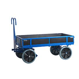 Handpritschenwagen, mit Bordwänden, Vollgummi, 1560x760 mm