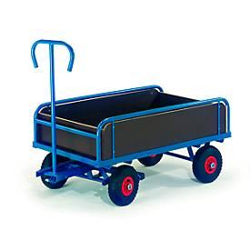 Handvrachtwagen met platformhekken, 2-assig, 1130 x 635 mm, met 2 assen