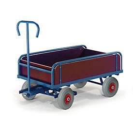 Handvrachtwagen met platformhekken, 2-assig, 930 x 535 mm, 2 assen, 930 x 535 mm