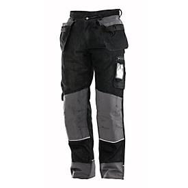 Handwerker Hose mit Holstertaschen Denim schwarz C146