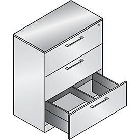 Hängeregistraturschrank ASISTO C 3000, 3 Schubladen, 2- oder 3-bahnig, B 800/1200 mm