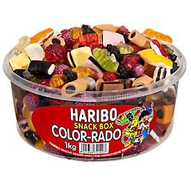 Haribo Color-Rado, 1 doos van 1 kg snoepen