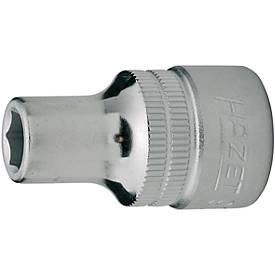HAZET Steckschlüsseleinsatz 15 mm 1/2 Inch DIN 3124 Sechskant