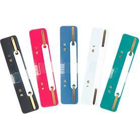 Heftstreifen, PP-Folie, farbig sortiert, 25 Stück, B35xT152xH21 mm