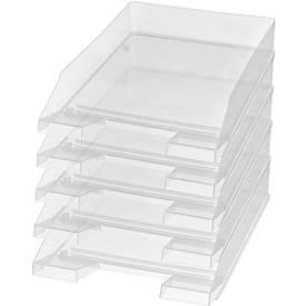 helit brievenbakken Economy, Kristal helder, 1 pak van 5 stuks