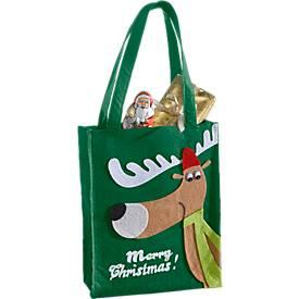 """Henkeltasche Elch """"Merry Christmas"""""""