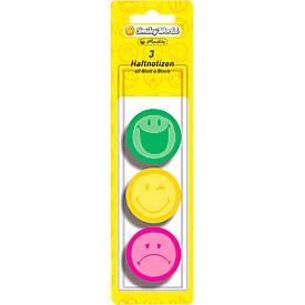 Herlitz Haftnotizen Smiley, rund, 3 verschiedene Motive, 3 x 40 Blatt