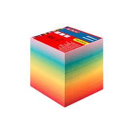 Herlitz Notizklotz Rainbow, verschiedenfarbig geschichtet, 800 Blatt