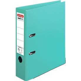 herlitz Ordner maX.file protect plus, DIN A4, Rückenbreite 80 mm, 10 Stück, mint