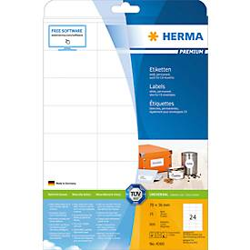 HERMA Etiketten Premium, permanent hechtend, nr. 4360, 70 x 36 mm, mat papier, 600 etiketten/25 vel