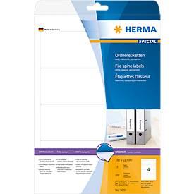 Herma Ordneretiketten A4, Standard-Ordner, permanent haftend, 192/297 mm lang