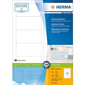 Herma Premium-Adressetiketten Nr. 4666 auf DIN A4-Blättern, permanent haftend