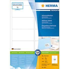 Herma Premium-Adressetiketten Nr. 4667 auf DIN A4-Blättern, permanent haftend