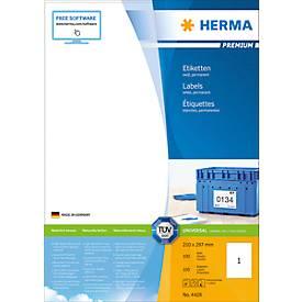 Herma Premium-Etiketten auf DIN A4-Blättern, 100 Etiketten, 100 Bogen