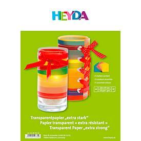 HEYDA Transparentpapier, sortierte Mappe, 10er-Pack