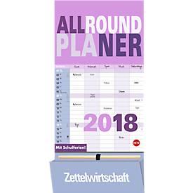 Heye Wandkalender Allroundplaner, 13 Blatt, mit Schulferien, mit Tasche für Zettel