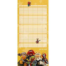 Heye Wandkalender Familienplaner Muppets, 14 Blatt, 6 Spalten, dt. Kalendarium