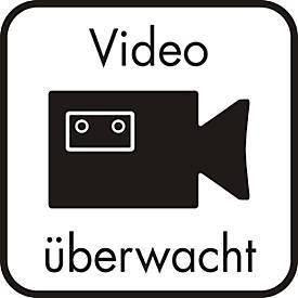 Hinweisschild-Hinterglasaufkleber: Videoüberwacht
